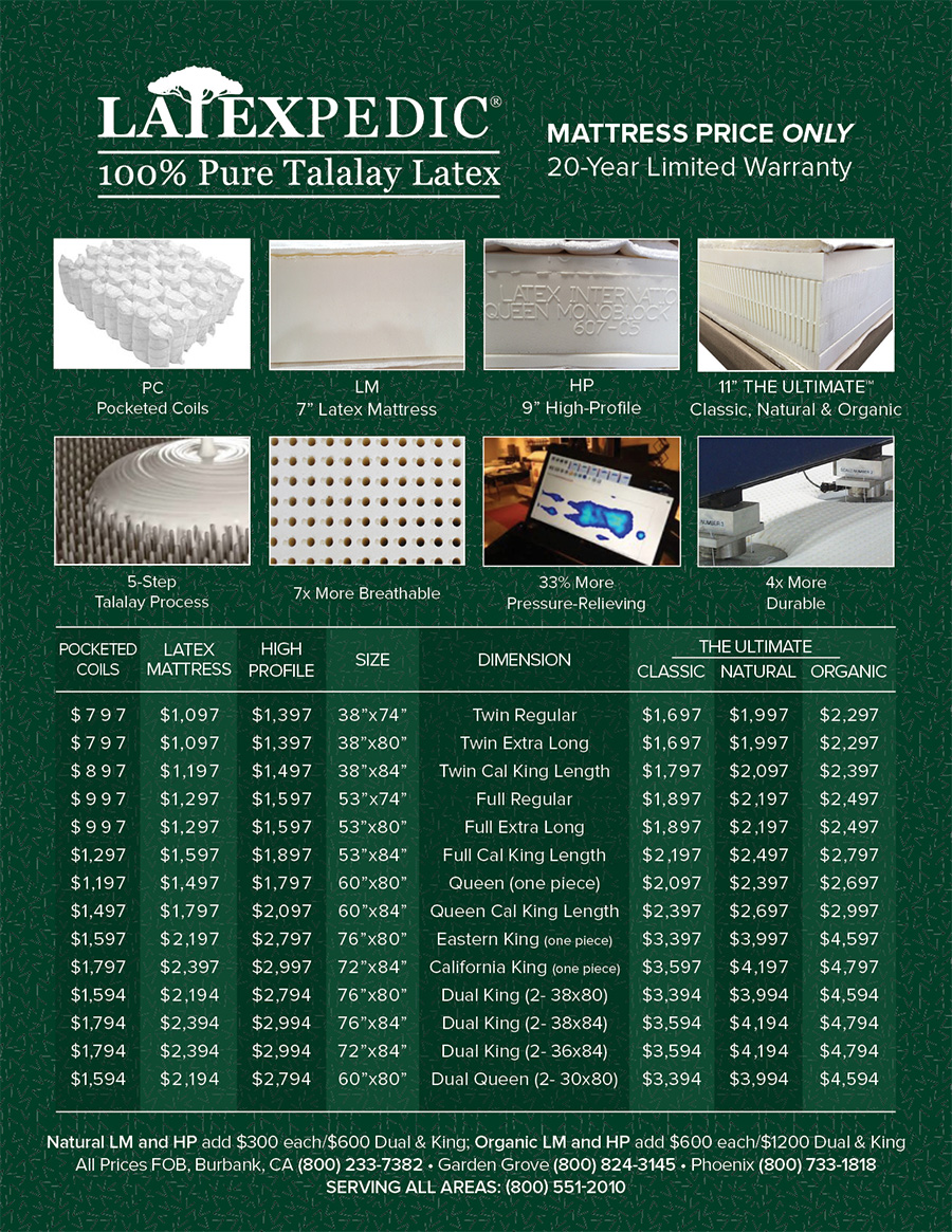 different latex 100 pure talalay latex the ultimate in comfort price list