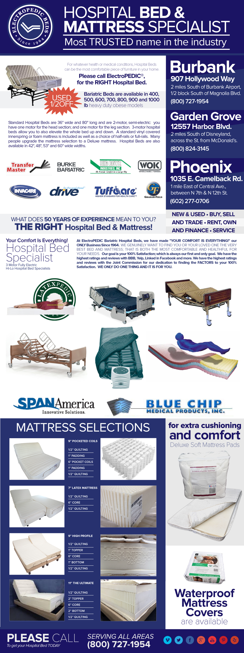 bariatric mattresses rent Hospital Bed rentals electric beds renting