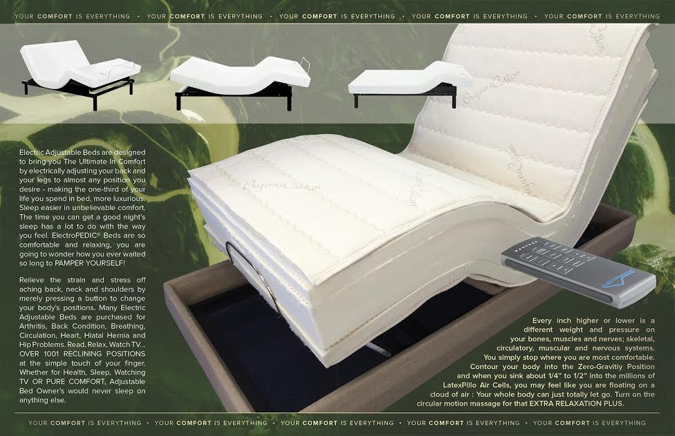 Adjustable Beds Manufacturers : Riverside ca electropedic? adjustable bed specialists