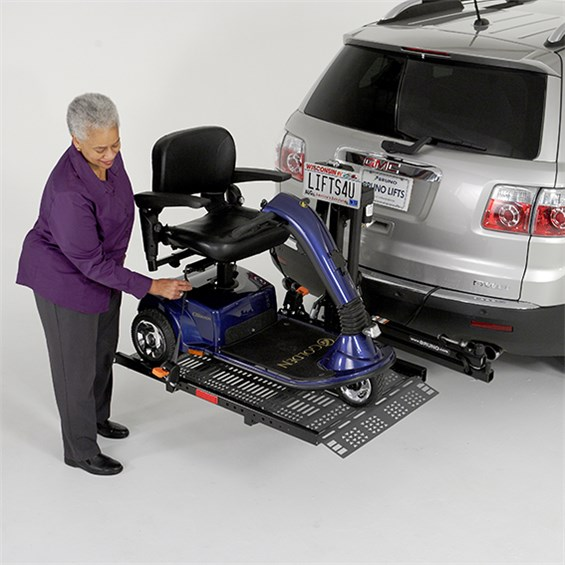 mobility electric 3 and 4 wheel lifters car lifting handicap senior elderly scooter class 3 two trailer hitches outside exterior
