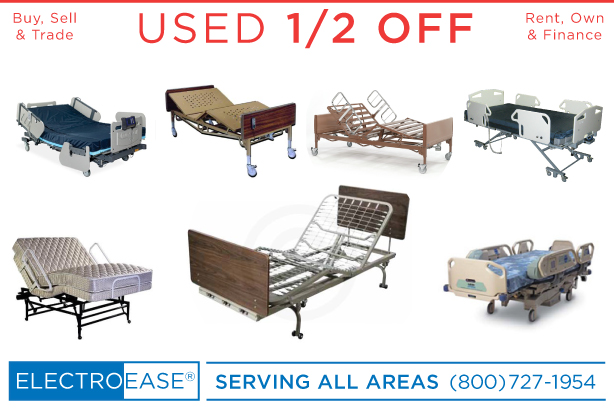 used electric hospital beds discount semi electric affordable fully electric inexpensive hi low flexabed high lo beds