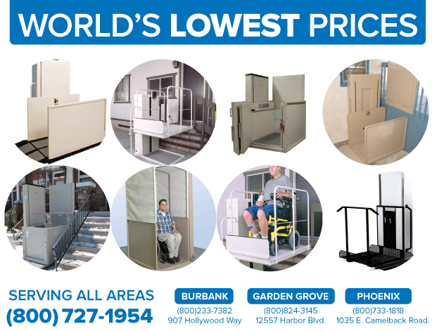 Wheelchair Elevators Orange, Anaheim, Brea, Buena Park, Costa Mesa, Cypress,