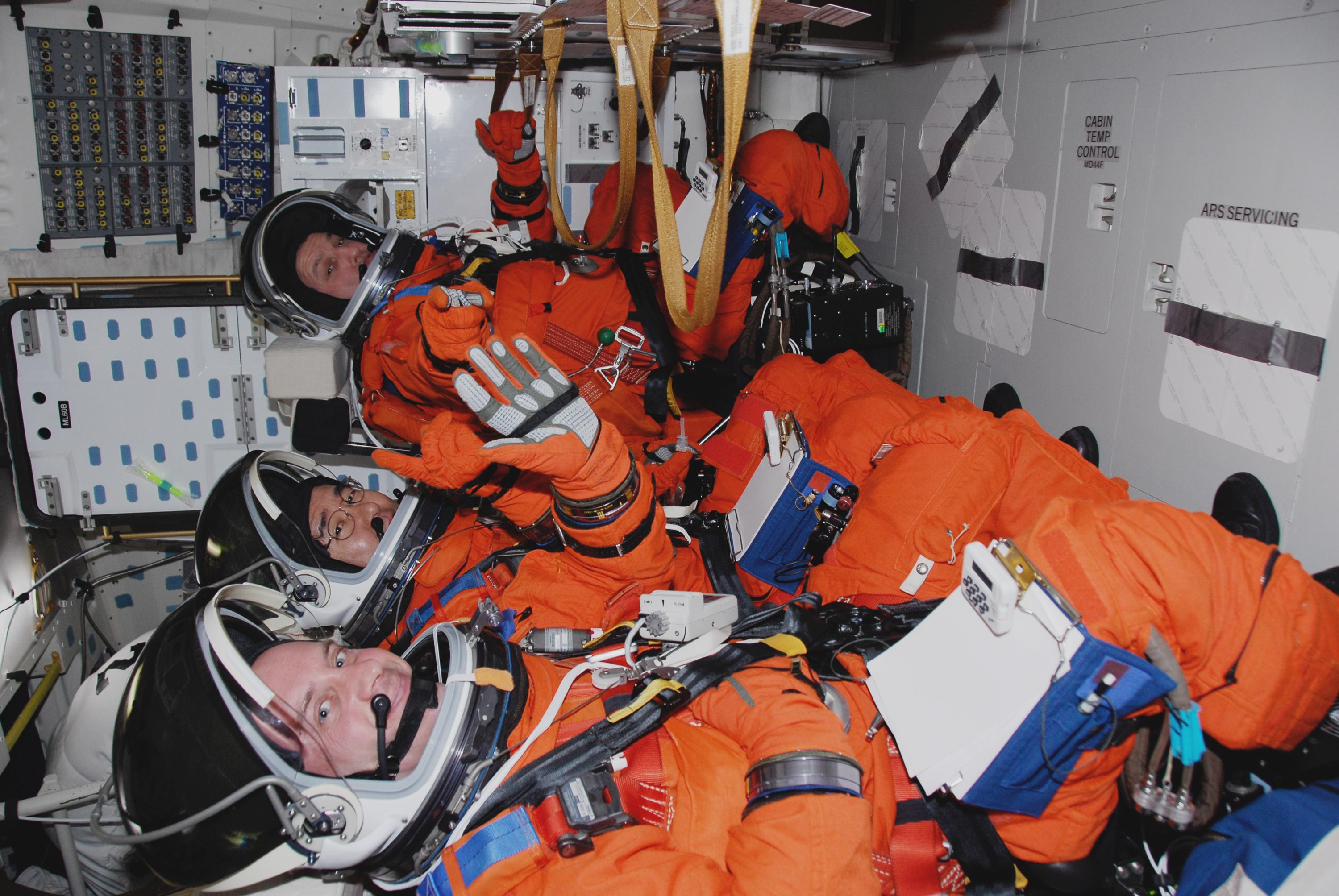 ZERO GRAVITY ASTRONAUT POSITION CREATED BY NASA