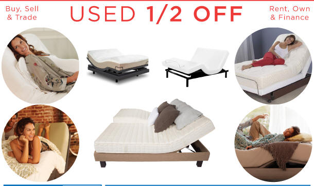 USED adjustable beds cheap discount electric affordable motorized frame cost sale price power base